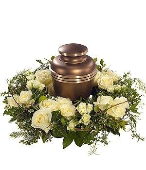 White Urn Wreath.