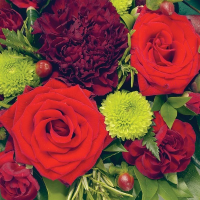 Posy   Red and Green