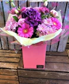 Florist Selection Pink and purple Handtied Bouquet