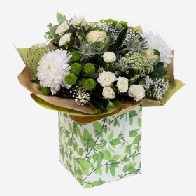 White and green florist choice bouquet